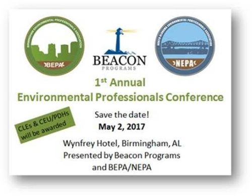 1st Annual Environmental Professionals' Conference sponsored by the Birmingham and North Alabama Environmental Professionals' Associations